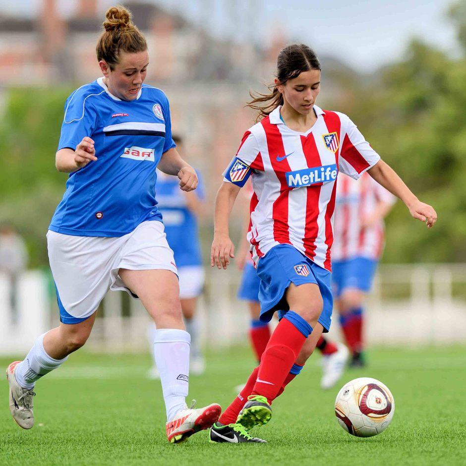 """Temporada 2012-2013. La capitana del Féminas """"D"""" durante el último partido de Liga"""