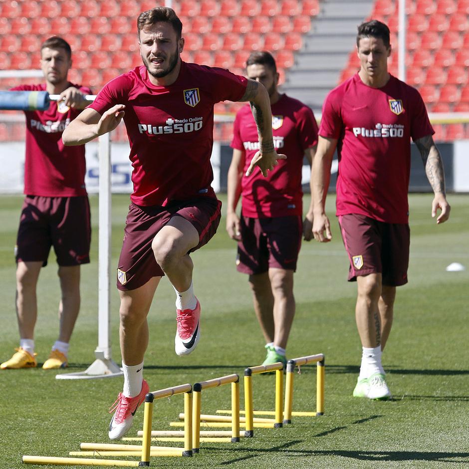 Temporada 16/17 | 19/05/2017 | Entrenamiento en la Ciudad Deportiva Wanda | Saúl