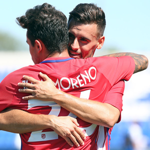 Temp. 17-18 | Amistoso | Leganés - Atlético de Madrid. Juan Moreno y Rafa Muñoz