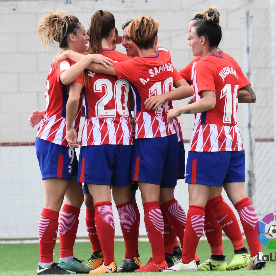temp. 17-18. Madrid CFF - Atlético de Madrid Femenino | Celebración