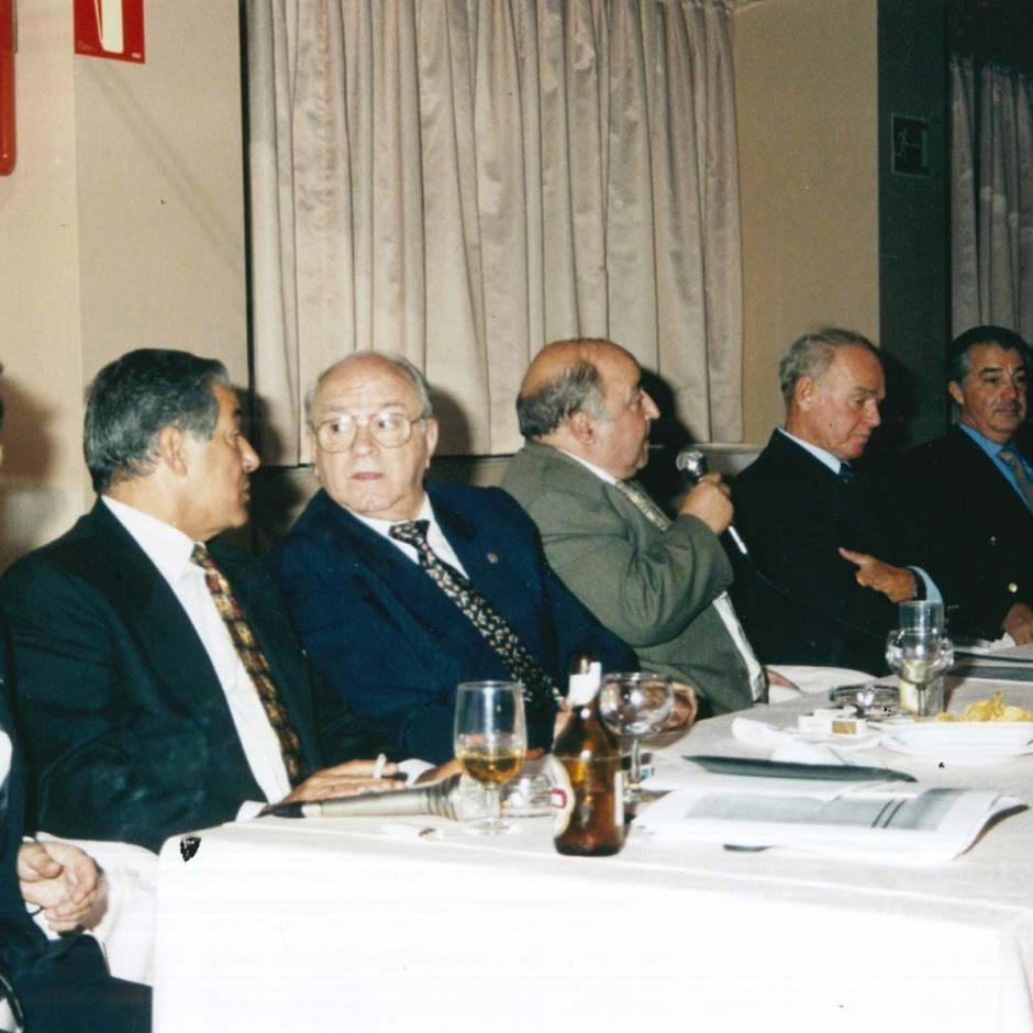 Collar, en una mesa de debate con Di Stéfano y Kubala, ex compañeros de la selección nacional