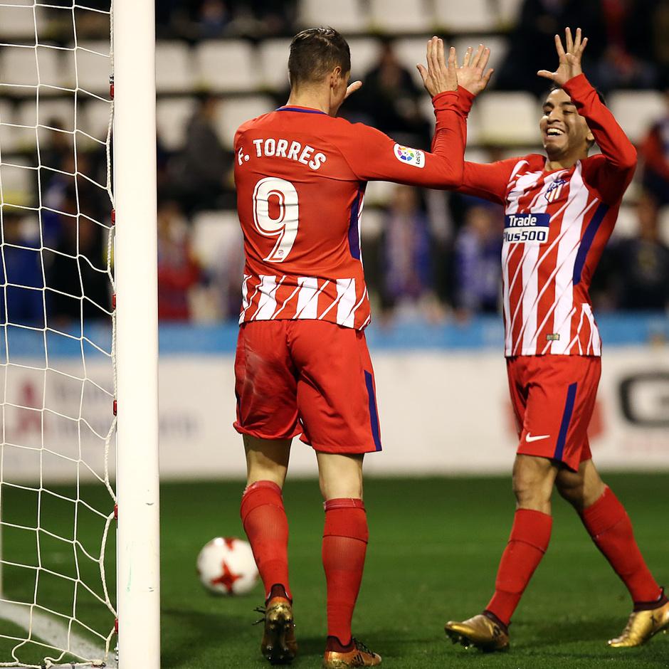Temp. 17-18 | Copa del Rey | Lleida - Atlético de Madrid | Torres y Correa
