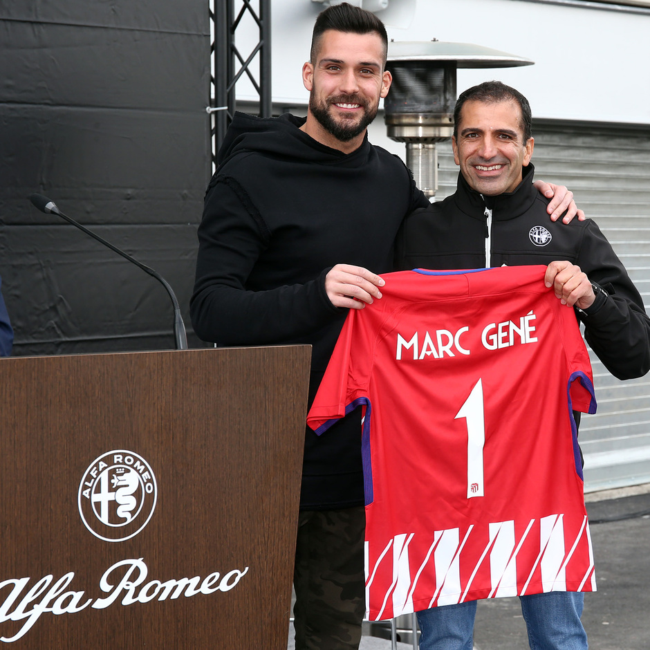 temporada 17/18. Acto Alfa Romeo Wanda Metropolitano. Gené y Moyá
