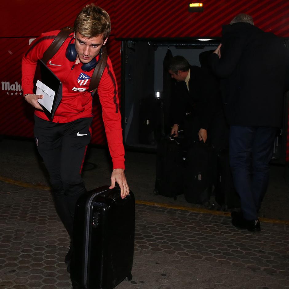 Llegada a Sevilla | Jornada 25 | 24-02-18 | Griezmann