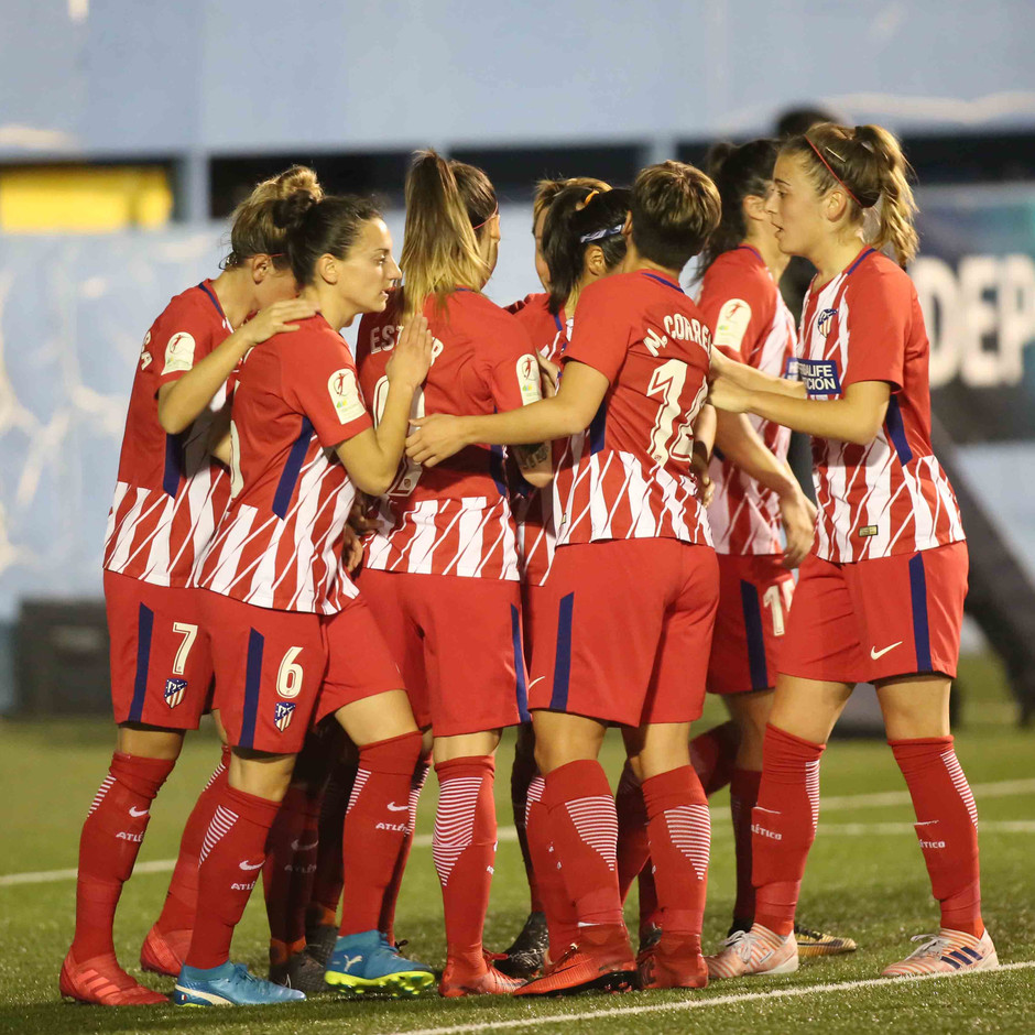 Temp. 17/18 | Atlético de Madrid Femenino | 24-03-18 | Jornada 24 | Celebración