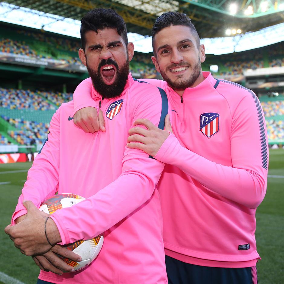 Temp. 17-18 | Europa League | Entrenamiento en el José Alvalade | Koke y Costa