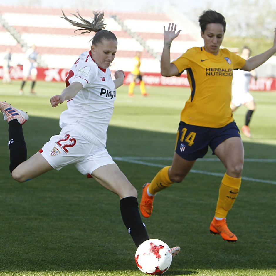 Temp 17/18 | Sevilla FC - Atlético de Madrid Femenino | Jornada 26 | 14-04-18 | Marta Corredera