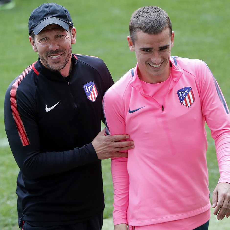 Temp 17/18 | Media Day | 09-05-18 | Wanda Metropolitano | Simeone y Griezmann
