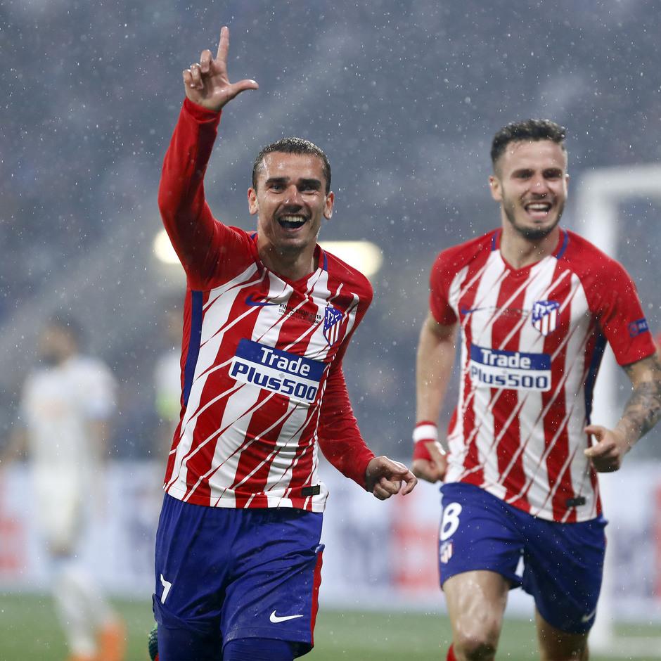 Temporada 17/18 | Final de Lyon de la Europa League | Olympique de Marsella - Atlético de Madrid | Griezmann y Saúl