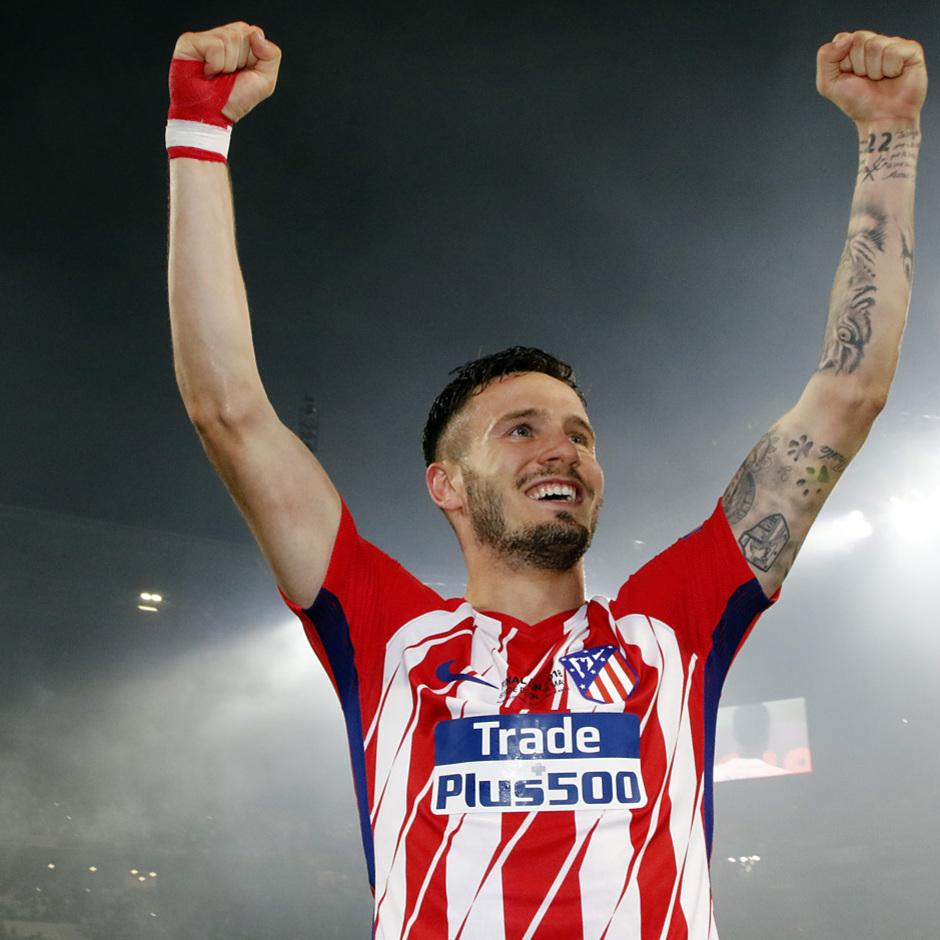 Temporada 17/18 | Final de Lyon de la Europa League | Olympique de Marsella - Atlético de Madrid | Celebración Saúl