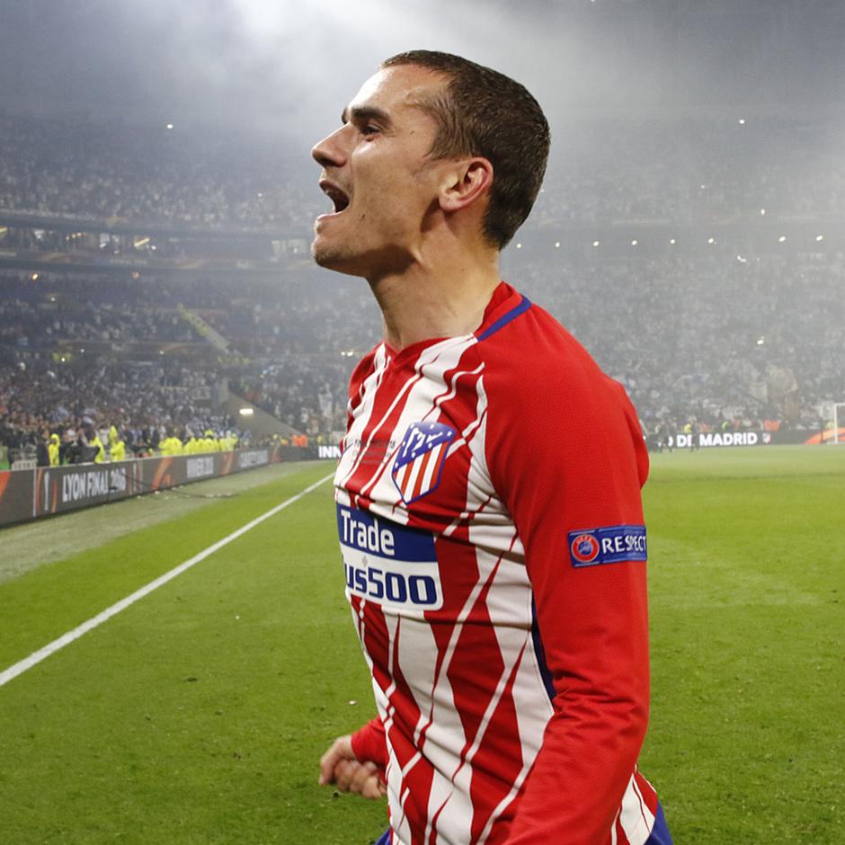 Temporada 17/18 | Final de Lyon de la Europa League | Olympique de Marsella - Atlético de Madrid | Celebración Griezmann