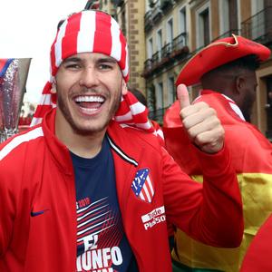 Temp 17/18 | Atlético de Madrid y Atlético de Madrid Femenino | 18-05-18 | Lucas