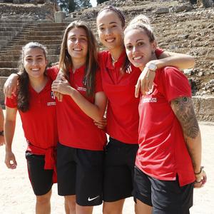 Visita al Teatro y Anfiteatro Romano de Mérida antes de la Final de la Copa de la Reina | Carla, Menayo, Cazalla