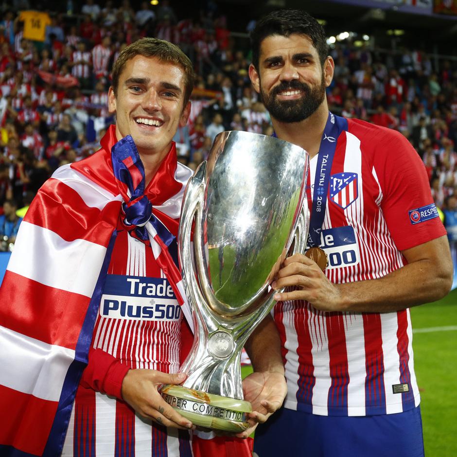 temporada 18/19. Supercopa de Europa. Griezmann, Costa