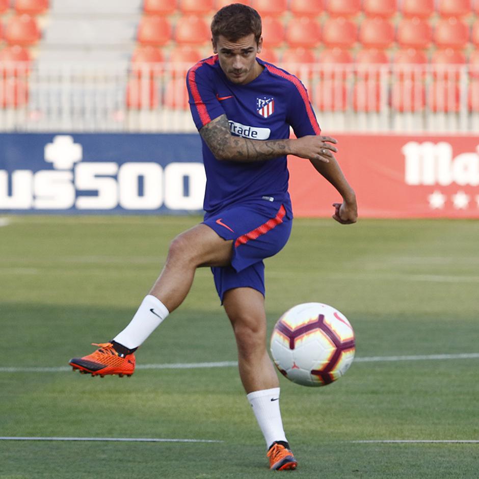 Temporada 18/19. Entrenamiento en la ciudad deportiva Wanda Atlético de Madrid. 23/08/2018. Antoine Griezmann