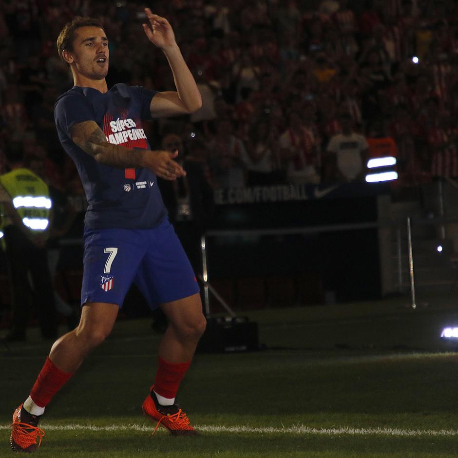 Temporada 2018-2019 | Celebración Supercopa de Europa | Griezmann