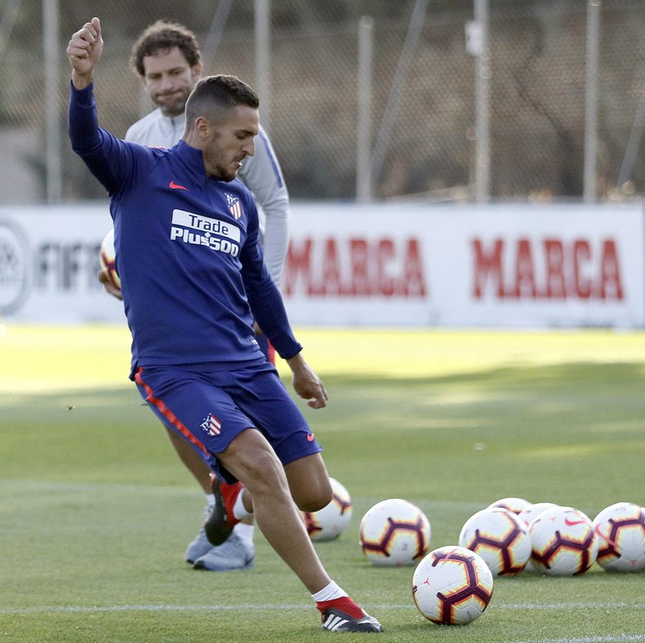 Temporada 18/19. Entrenamiento en la ciudad deportiva Wanda Atlético de Madrid. 07_09_2018. Koke
