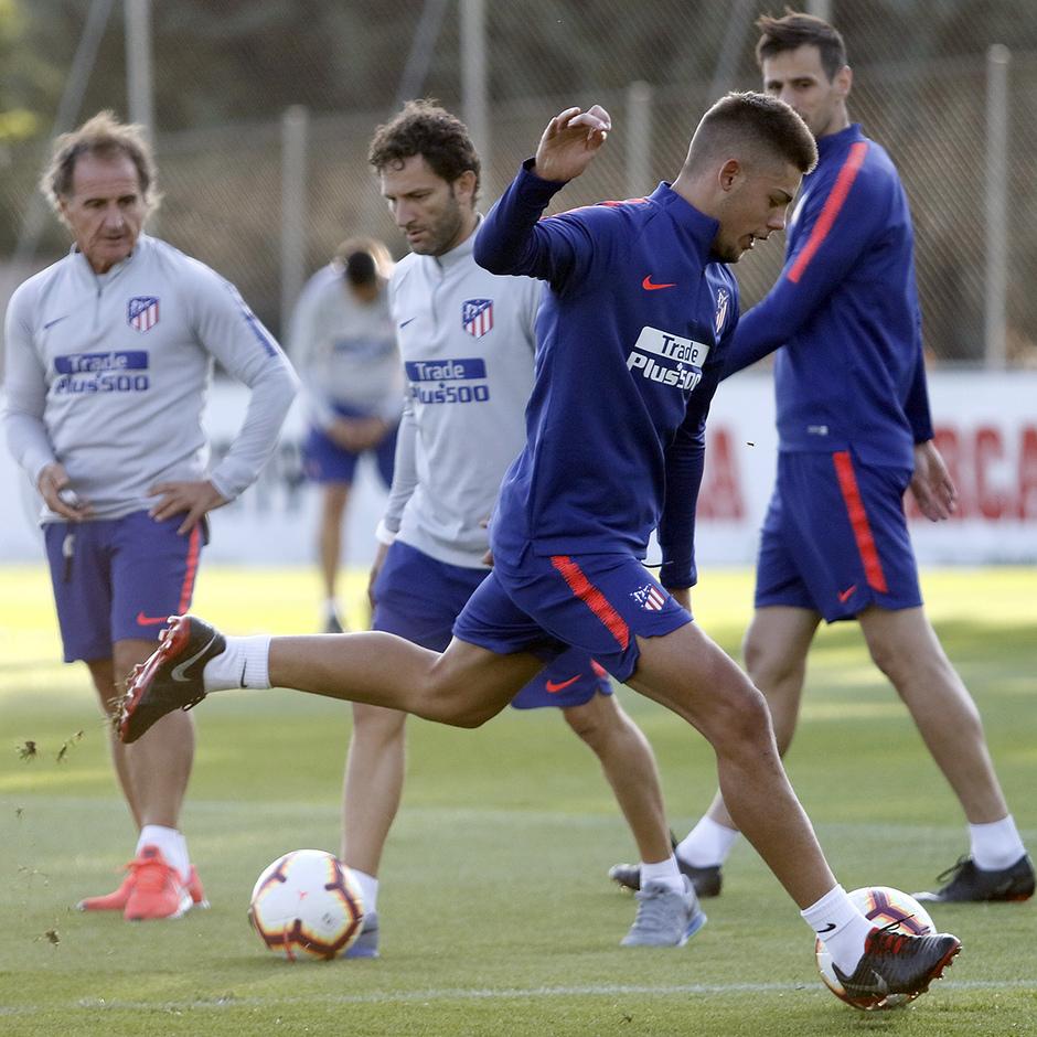 Temporada 18/19. Entrenamiento en la ciudad deportiva Wanda Atlético de Madrid. 07_09_2018. Montero