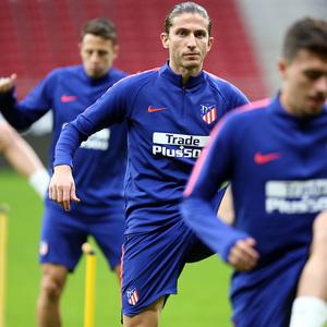 temporada 18/19. Entrenamiento en el Wanda Metropolitano. Filipe durante el entrenamiento