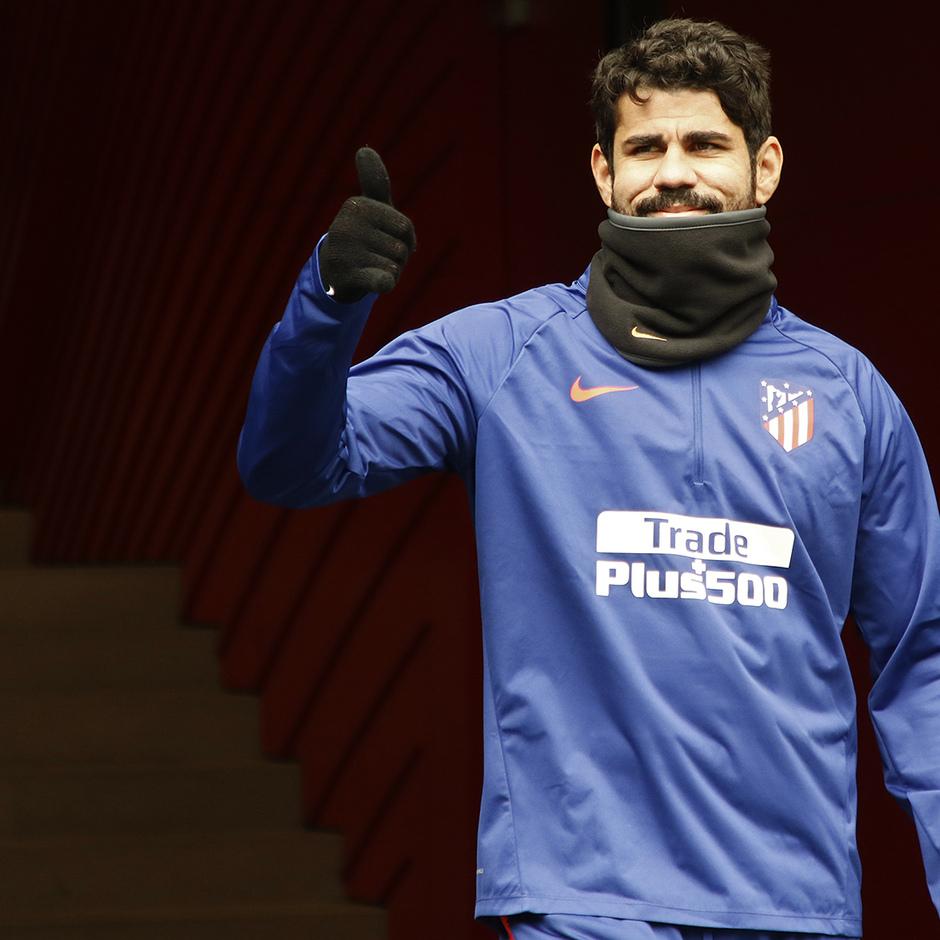 Temporada 18/19 | 22/11/2018 | Entrenamiento en el Wanda Metropolitano | Diego Costa