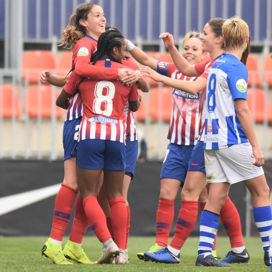 Temp. 18-19   Atlético de Madrid Femenino - Sporting de Huelva   Celebración Olga