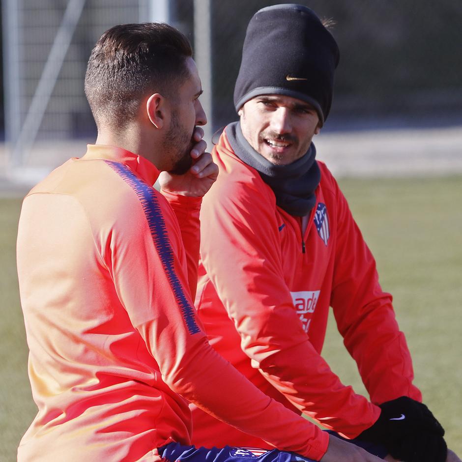 Temporada 18/19 | Entrenamiento del primer equipo | 11/01/2019 | Koke y Griezmann