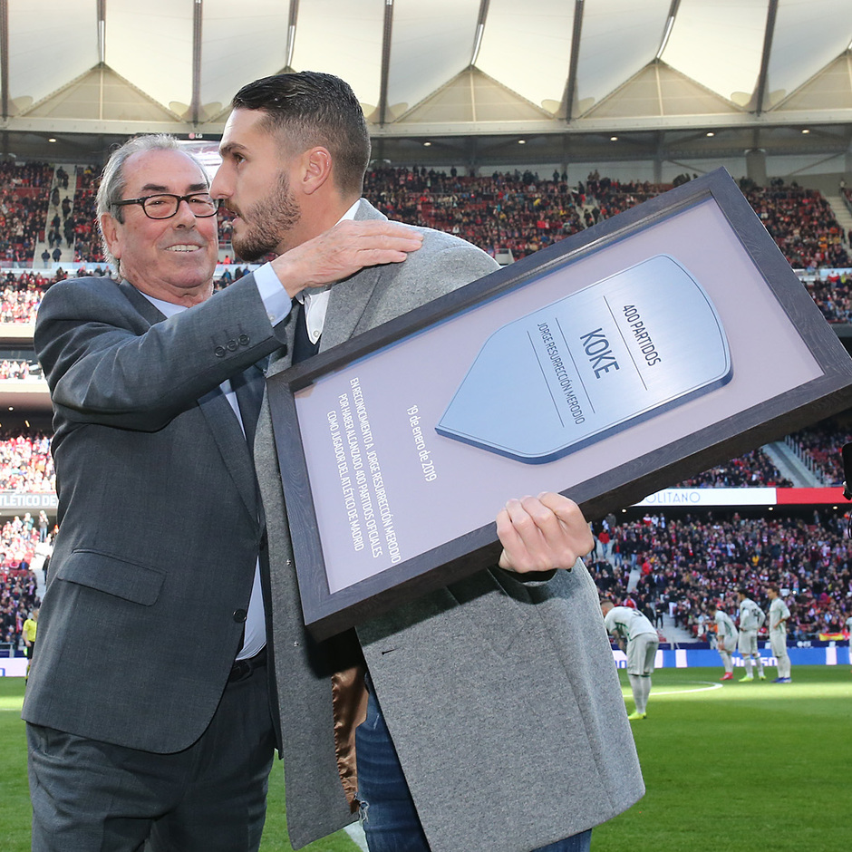 Temporada 18/19   Atlético de Madrid - Getafe  Adelardo y Koke