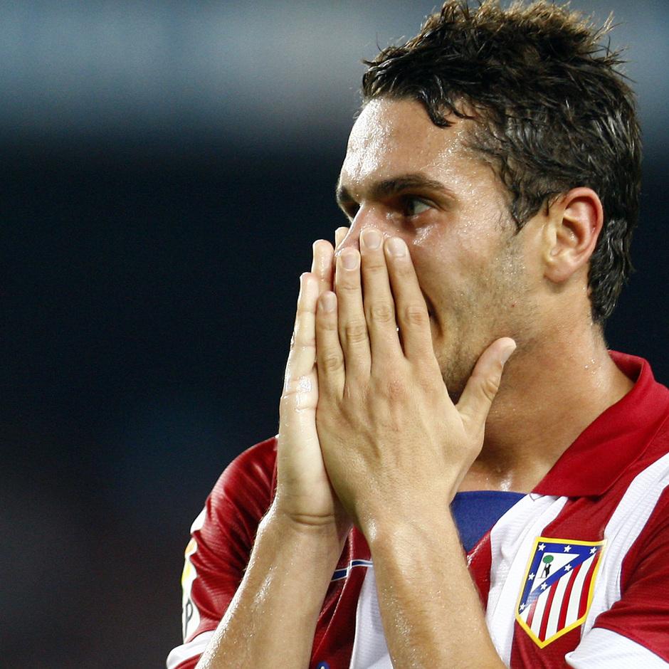Temporada 2013/2014 FC Barcelona - Atlético de Madrid Koke lamentando alguna ocasión
