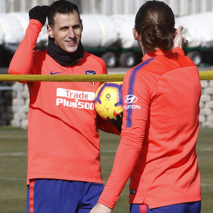 Temporada 18/19 | Entrenamiento | Morata y Filipe Luis