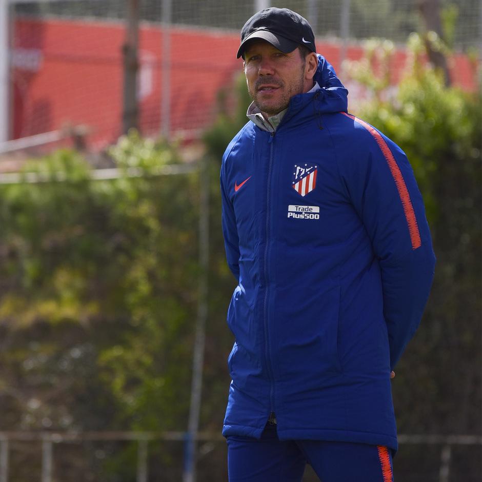 Entrenamiento en la Ciudad deportiva Wanda Atlético de Madrid 19_03_2019. Simeone