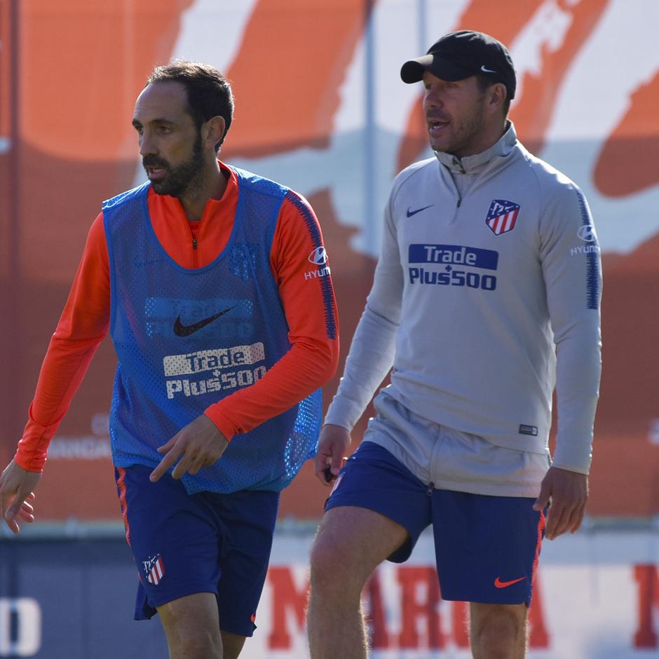 Temporada 18/19. Entrenamiento en la ciudad deportiva Wanda Atlético de Madrid. 22_03_2019. Koke
