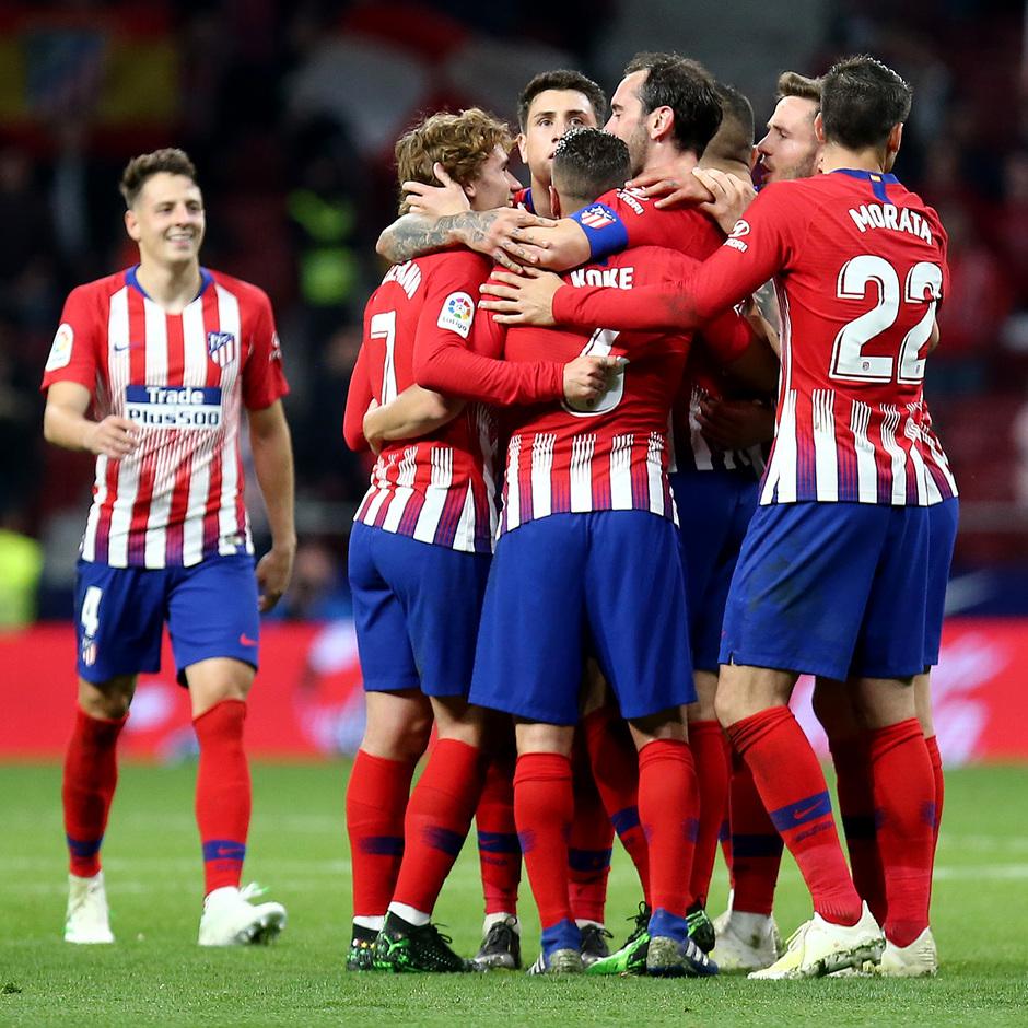 Temporada 18/19 | Atlético de Madrid - Girona | celebración piña