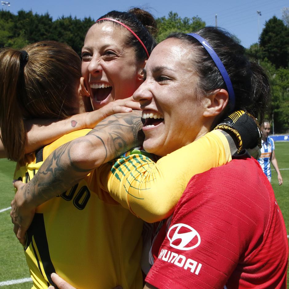 Temporada 18/19 | Real Sociedad - Atlético de Madrid Femenino | Jenni, Lola y Meseguer
