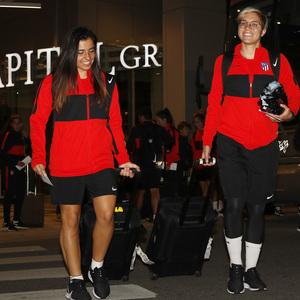 Temp. 19-20 | Llegada Atlético de Madrid Femenino a Raleigh | Chidiac y Linari
