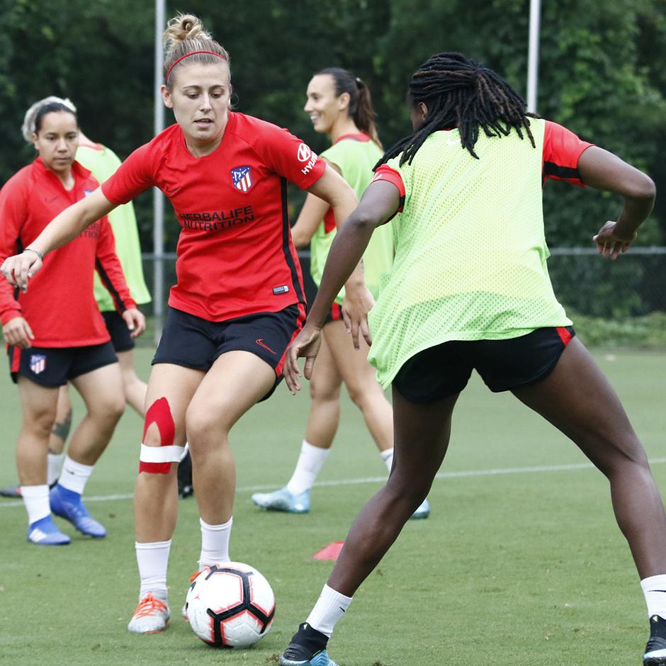 Temporada 19/20   Entrenamiento del Atlético femenino en Raleigh   Menayo
