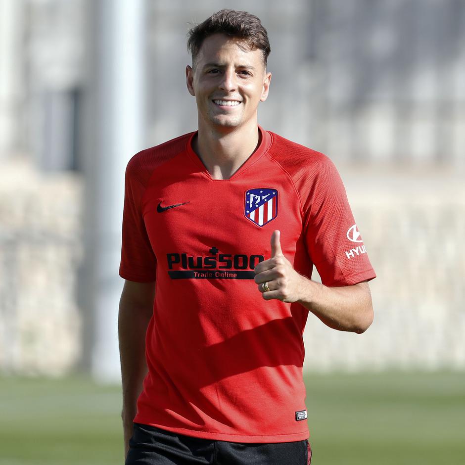 Entrenamiento en la Ciudad deportiva Wanda Atlético de Madrid 03-09-2019. Arias.