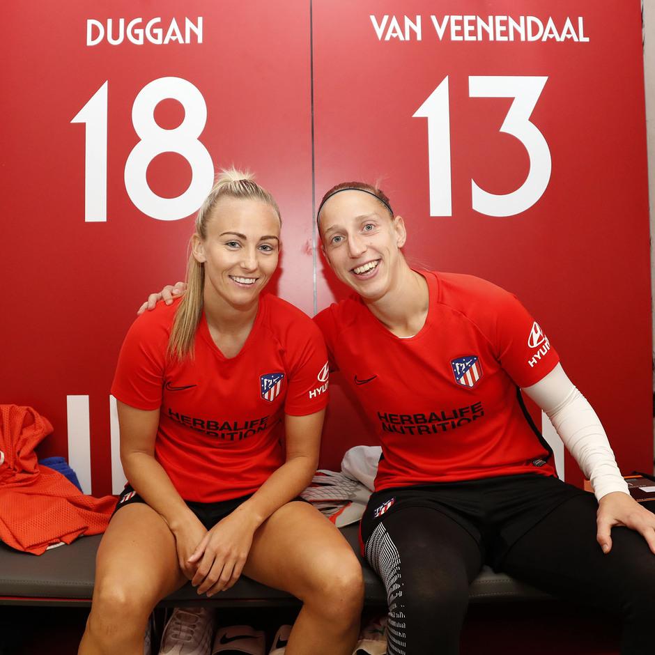 Temporada 19/20 | Atlético de Madrid Femenino | Primer entreno Alcalá | Sari y Toni Duugan