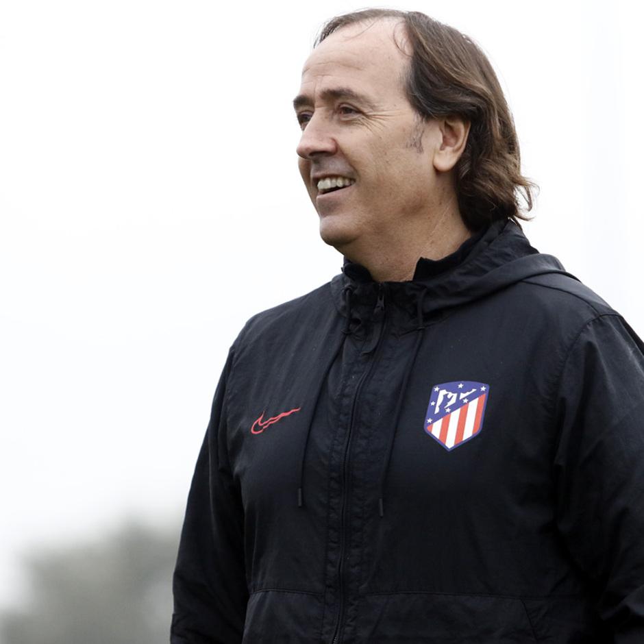 Temporada 19/20 | Atlético de Madrid Femenino | Entrenamiento en el Centro Deportivo Wanda Alcalá de Henares previo al partido de Women's Champions League | Pablo López