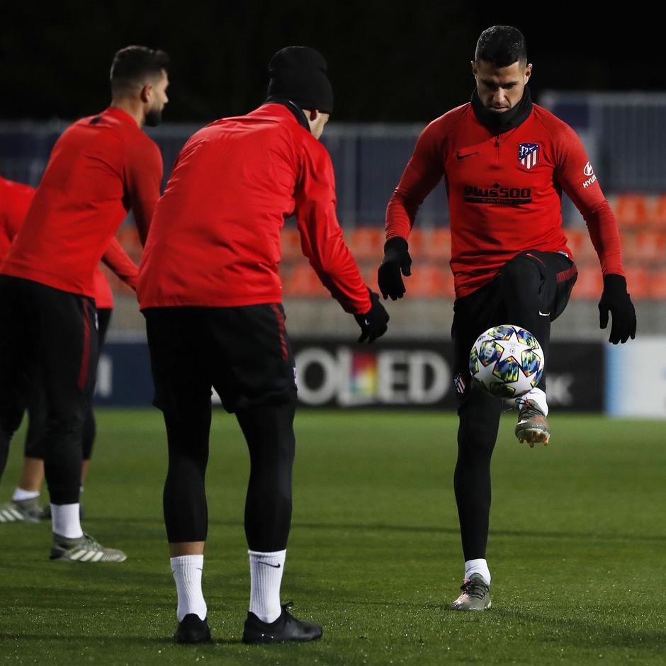 Entrenamiento en la Ciudad deportiva Wanda Atlético de Madrid 04-11-2019. Vitolo.