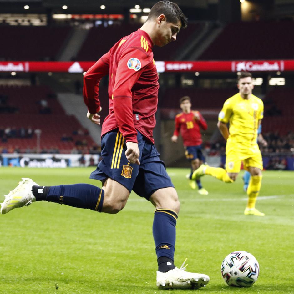 Temporada 19/20. España-Rumanía en el Wanda Metropolitano. Morata