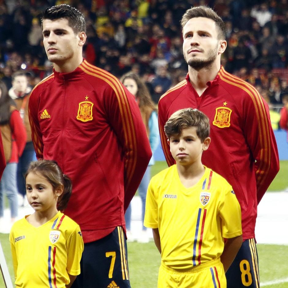 Temporada 19/20. España-Rumanía en el Wanda Metropolitano. Saúl y Morata