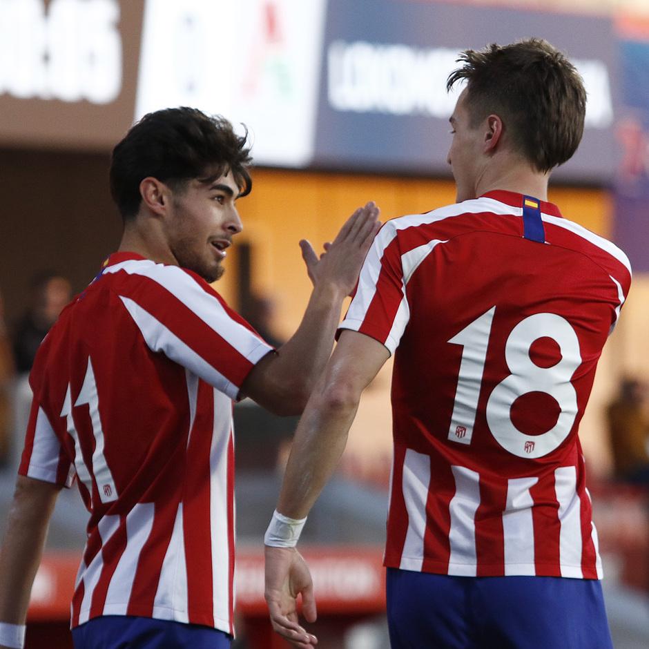 Temporada 19/20. Youth League. Atlético de Madrid Juvenil A - Lokomotiv. Celebración