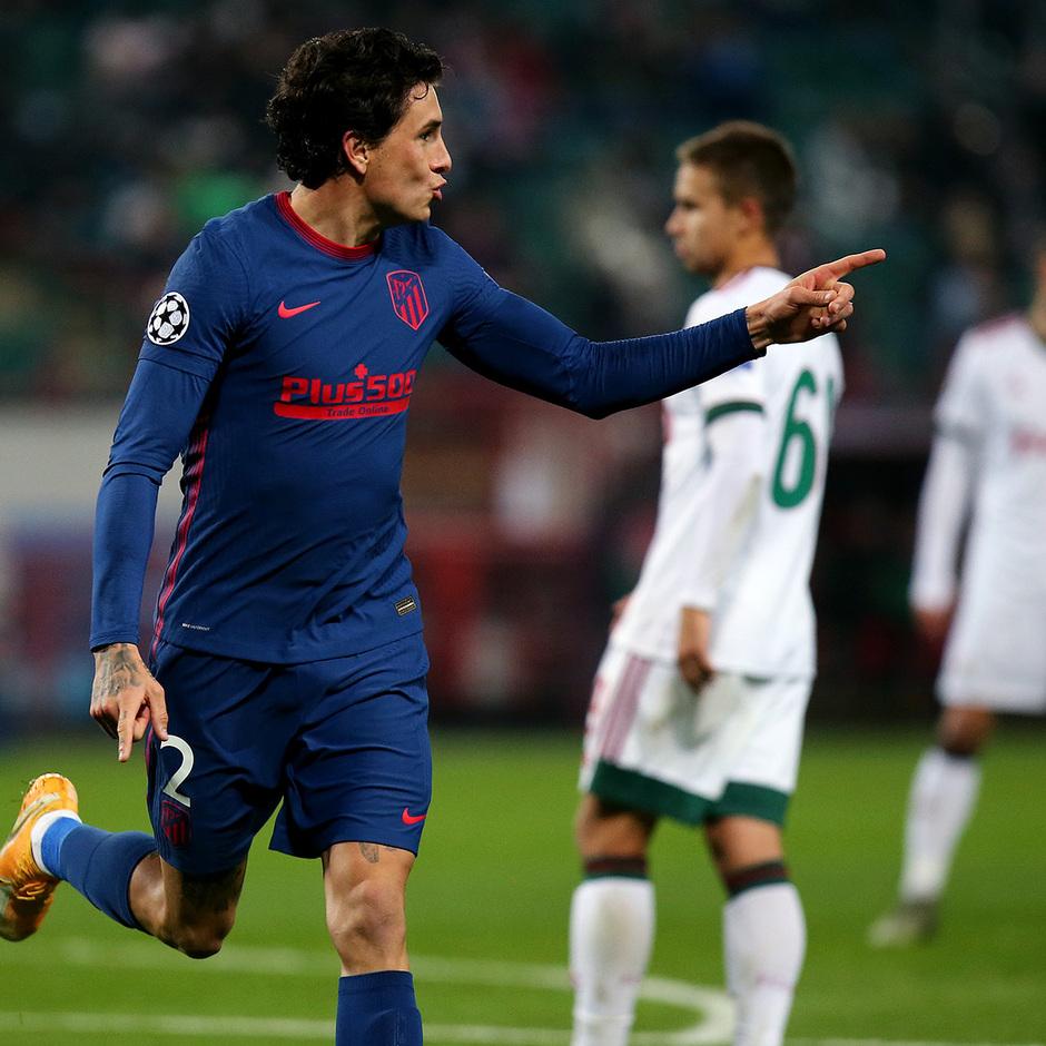 Temp. 2020-21 | Lokomotiv - Atlético de Madrid | Celebración Giménez 1