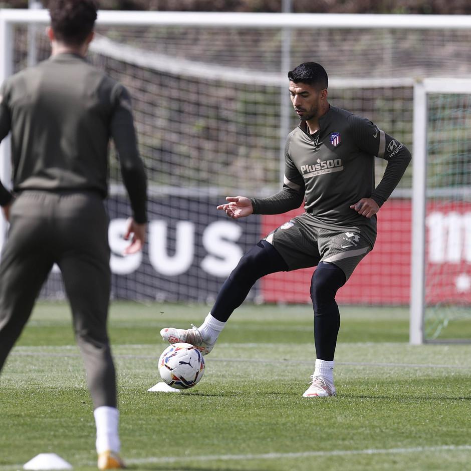 Temp. 20-21   Entrenamiento Atlético de Madrid   Luis Suárez