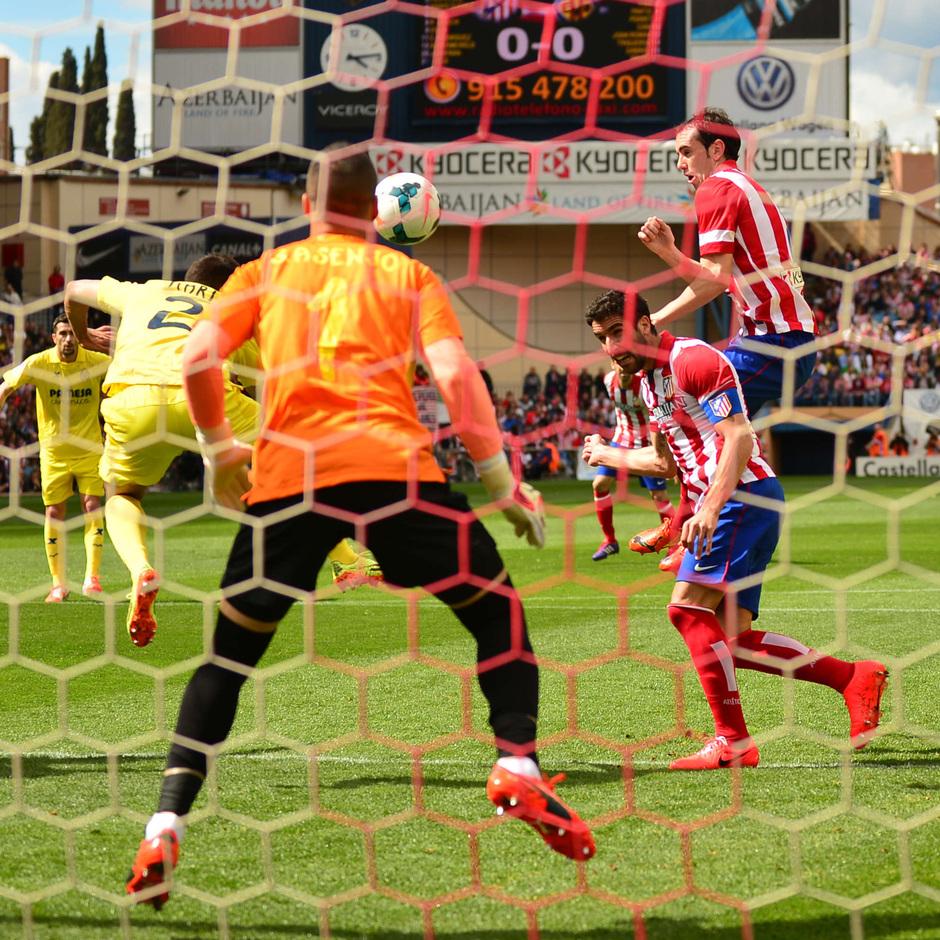 temporada 13/14 Partido. Atlético de Madrid_Villarreal. Gol de Raúl García Estadio10