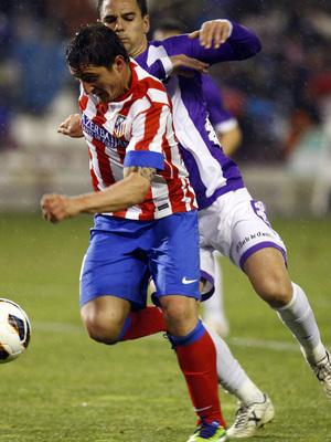 Temporada 2012-13. Cristian Rodríguez anotó en la visita del equipo a Zorrilla para enfrentarse al Real Valladolid.