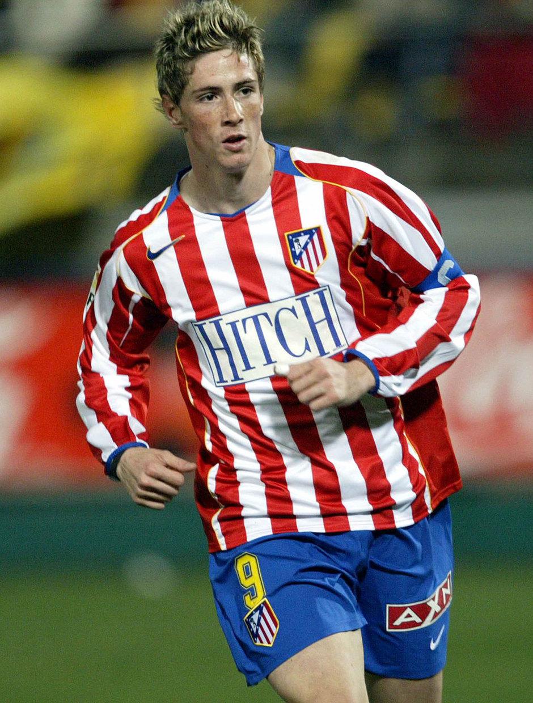 Fernando Torres porta el brazalete de capitán del Atlético de Madrid