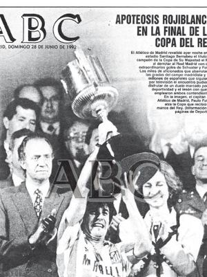 TEMPORADA 1991/1992. El Atlético gana la octava Copa del Rey.