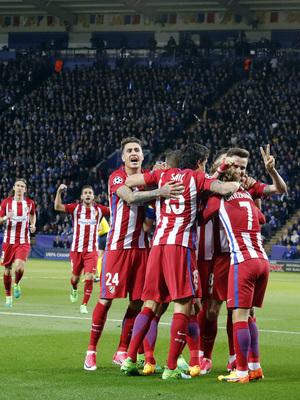 Temp. 16/17 | Leicester - Atlético de Madrid | Celebración