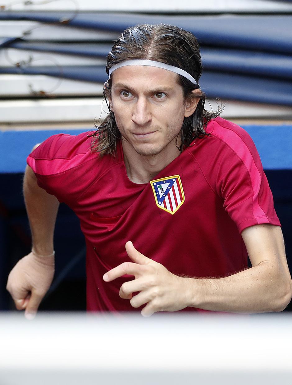 Temporada 16/17. Entrenamiento del Atlético de Madrid en el Vicente Calderón. Filipe durante el entrenamiento